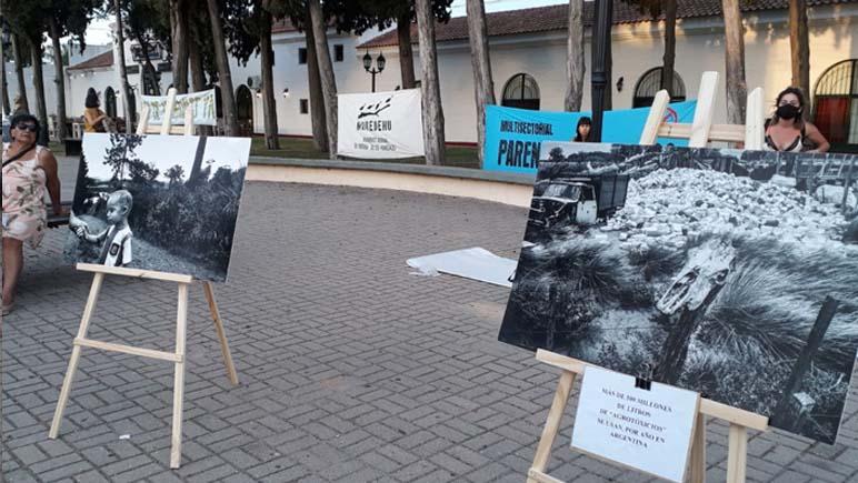 """En la ciudad de San Lorenzo se pudo exhibir la obra de Pablo Piovano, """"El costo humano de los Agrotóxicos"""""""