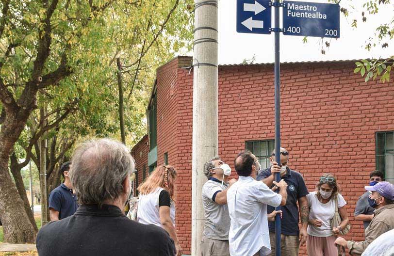 Calle Maestro Fuentealba en Baigorria