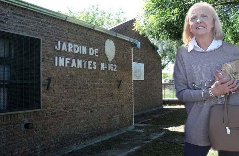 Pesar por la muerte de la ex directora del Jardín Nucleado Nº 162, Marité Chiapero