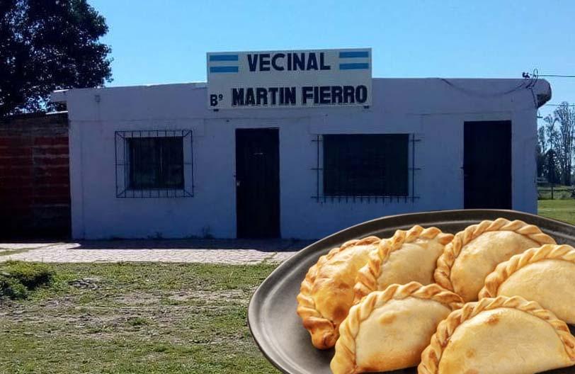 Venta de empanadas de la Vecinal Martín Fierro